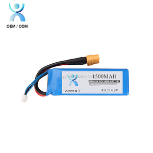 4S 1500mah FPV heli airplane LiPo battery 4S 14.8V RC 70c