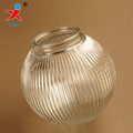 clear prismatic glass globe lamp shade