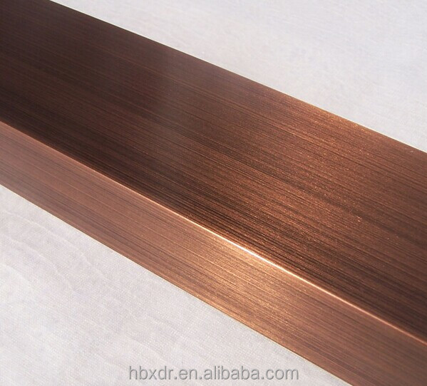 wire drawing   sandblasting    powder coated bronze anodized
