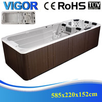 Acrylic portable hot tub boat with massage function whirlpool spa