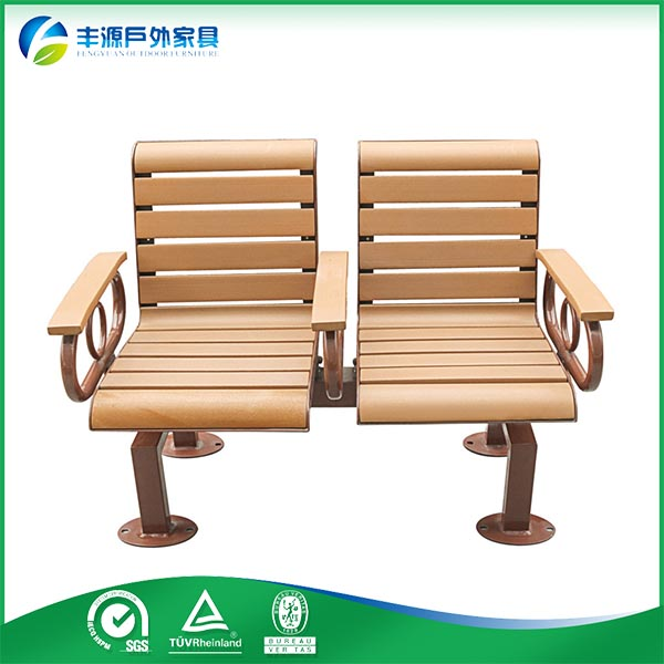 waterproof outdoor furniture wooden garden bench, plastic wood street bench