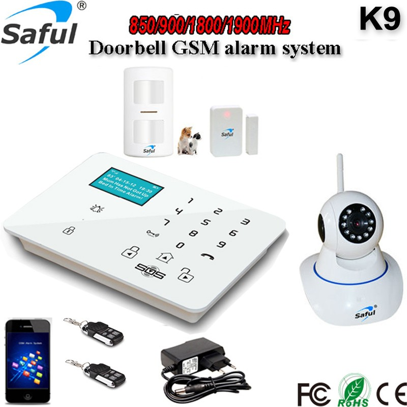 2016 Newest Multi Language K9 GSM Fire Alarms Systems Smart Home Security 2G 3G Work with IP Camera