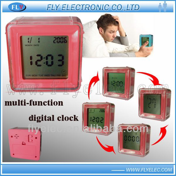 Four side alarm clock