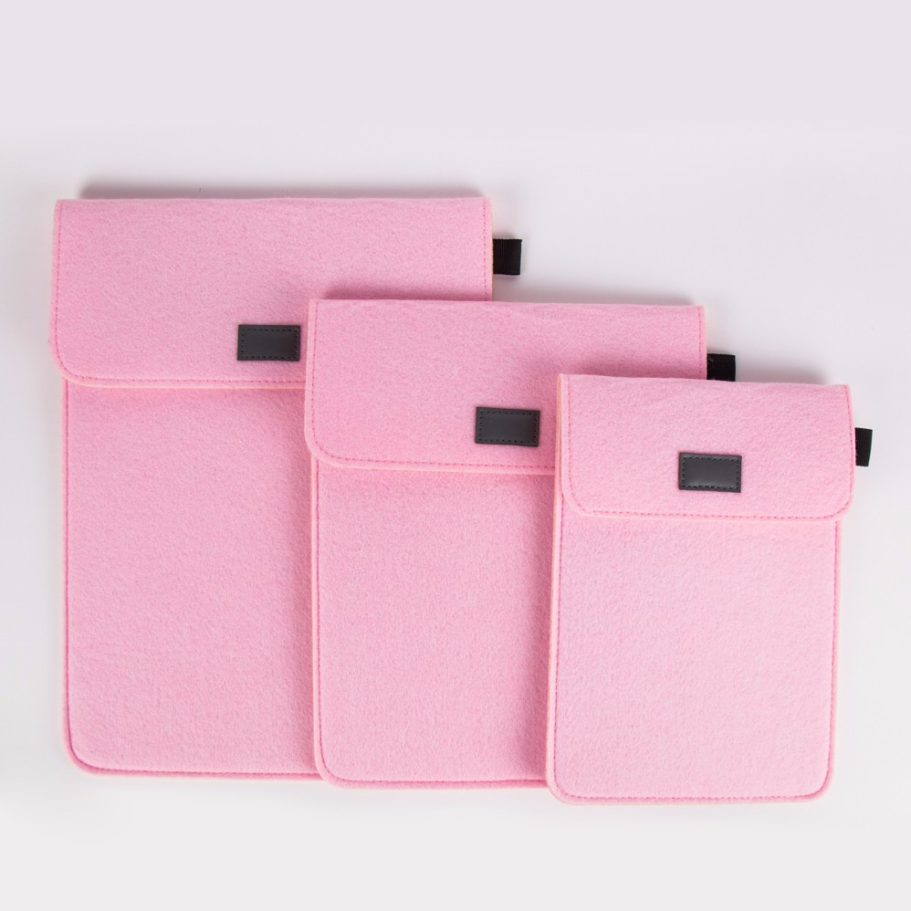 Kids Pink Wool Felt 7 inch Tablet Case for Ipad