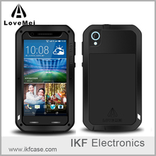 Love Mei Powerful Shockproof Dirtproof waterproof Rugged Gorilla Glass Metal Aluminum Case For HTC Desire 820
