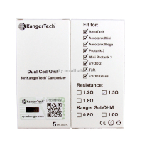 Best Price Authentic Kanger Mini Protank 3 Coils Kangertech BDC Tank Series Upgraded Bottom Dual Coil
