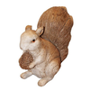 plastic squirrel toy / small plastic squirrel figure