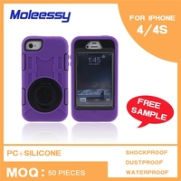 New Design for iphone4s pc silicone case