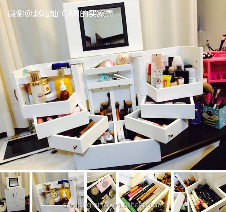 Blanc meuble rangement bijoux bijoux armoire de rangement - Meuble rangement bijoux miroir ...