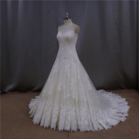 "customized 3/4 sleeves dot tulle ""online wedding dress crochet dress"""