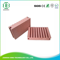 High Quality boat deck wood polymer material wpc decking flooring