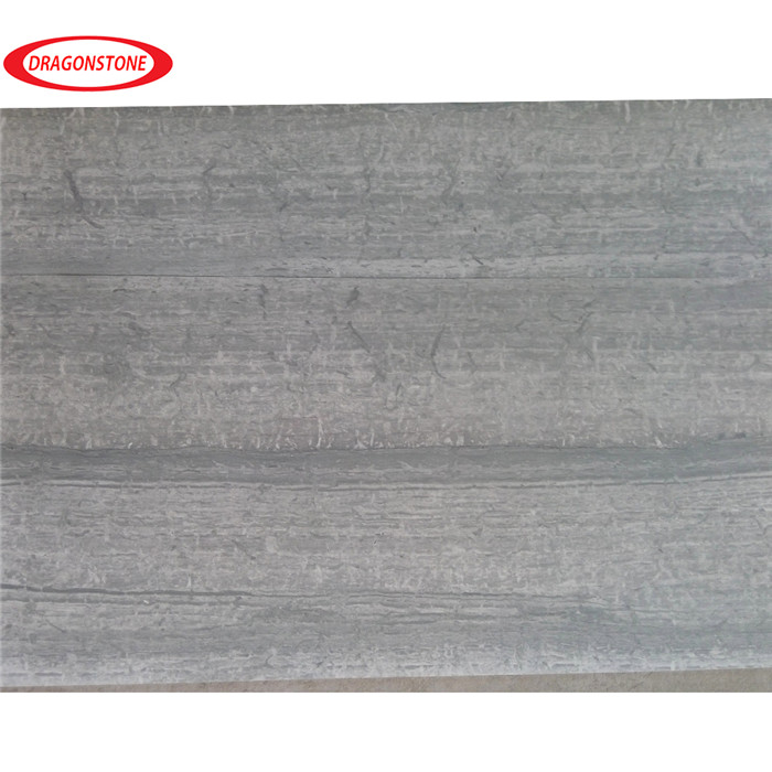 White/grey/blue wood grain marble slab stone tile for project