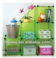 6 cubes+2half folding plastic diy decorative storage shelf