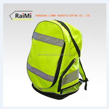 high visibility fashionable fluorescent yellow waterproof sport& leisure travel bag for students