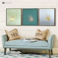 Pure handmade embroidery picture canvas painting designer home decor