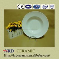 high quality porcelain cheap plain white ceramic dinner plate
