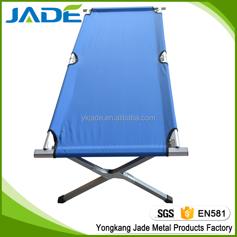 High quality extended foldable beach bed army folding bed traveling Camping Equipment