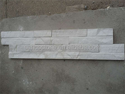 Stacked Slates With White Wood Grain Culture Stone Wall Claddings