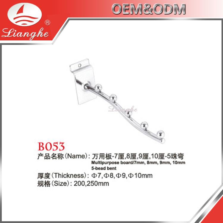 Wholesale 5 Beads Bent Shaped Display Hook For Stores Display