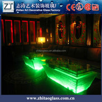 Wholesale colorful glass bar counter design for sale