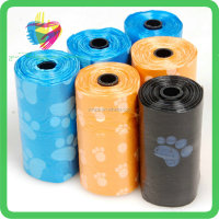 Pet Product Customed Packaging HDPE+D2W dog waste bags poop bags
