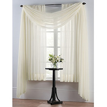 Smart Sheer Insulating Voile Window Curtain Panel