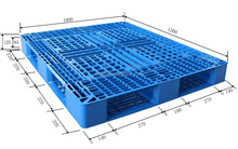 Heavy duty racking system blue color plastic pallet for sale
