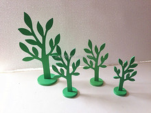 mini decoration wooden display jewelry tree stand