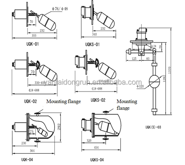 Uqk Oil Tank Level Switch Horizontal Level Switch
