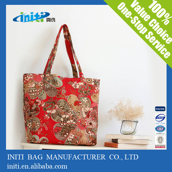 OEM Customized Printing Waxed Personalized Canvas Tote Bags