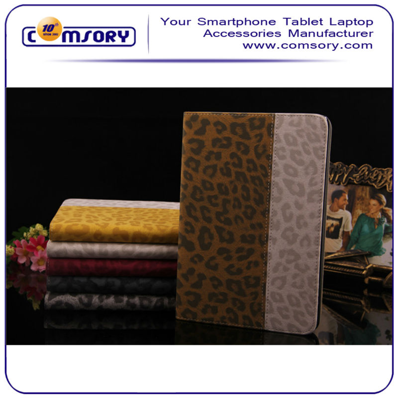 Leopard Animal Print Premium PU Leather Protective Smart Stand Case cover For APPLE iPad mini with Retina Display (iPad mini 2)