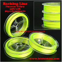 Best price fluorescent yellow backing line fly fishing line