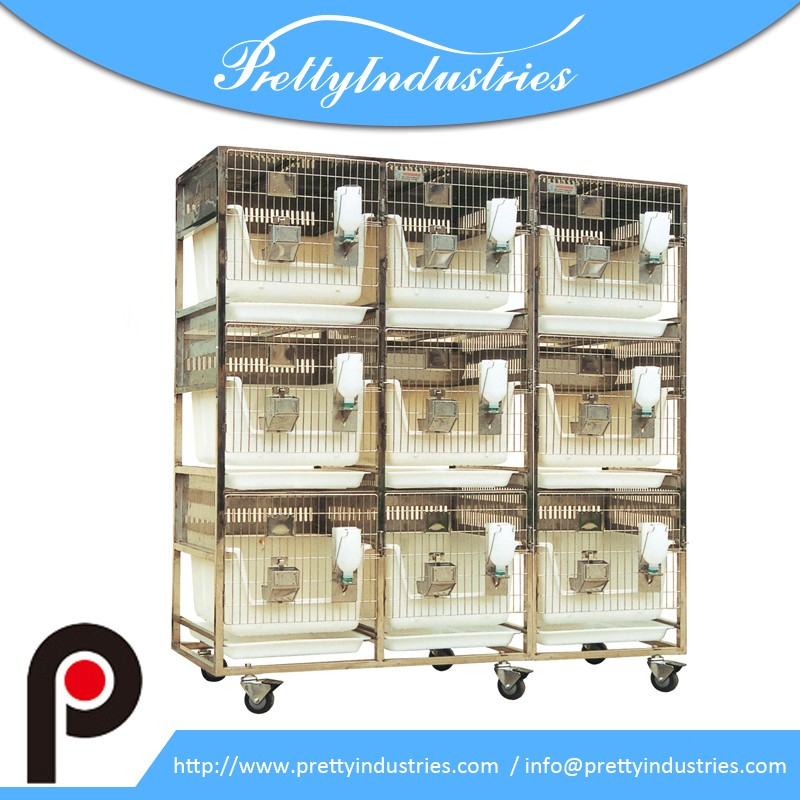 Stainless Steel rack plastic rabbit breeding cages