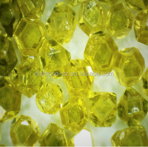 HPHT yellow synthetic uncut diamond