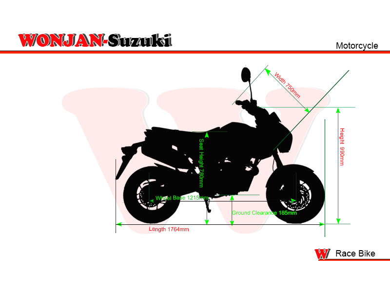 Race Bike (150cc) Wonjan-Suzuki engine, Motorcycle, , Motorbike, Autocycle,Gas or Diesel Motorcycle (WJ150-18 BROWN)