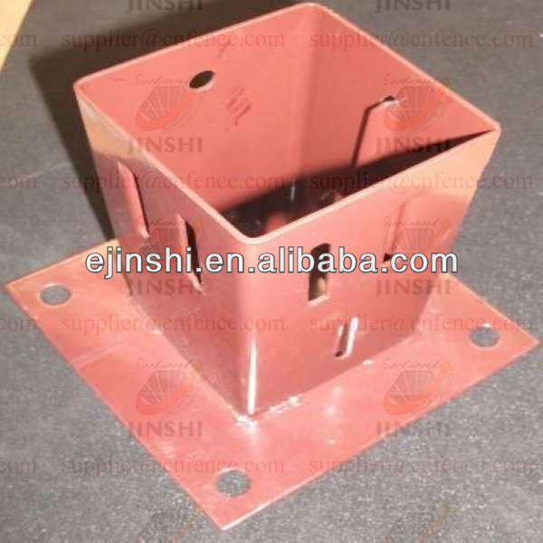 galvanized Wedge Grip pole ground plate for Flag Poles support
