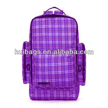 Purple And White Crossed Latticed backpack reflectors