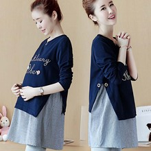 YL OEM Comfortable cotton loose formal maternity dress for pregnant women