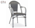 Factory price metal frame furniture outdoor rattan cafe chair for cafe