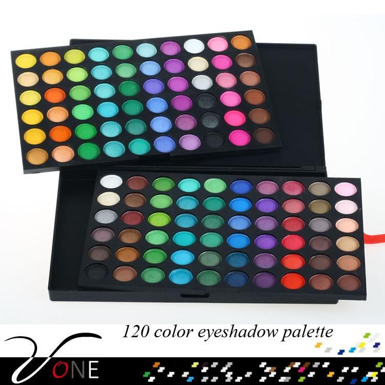 120 color shiny cool pressed eyeshadow powder professional make up eyeshadow on sale