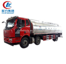 HOWO 20000 liter water drilling truck stainless steel truck milk tank