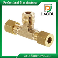 New hotsell brass t connector pipe