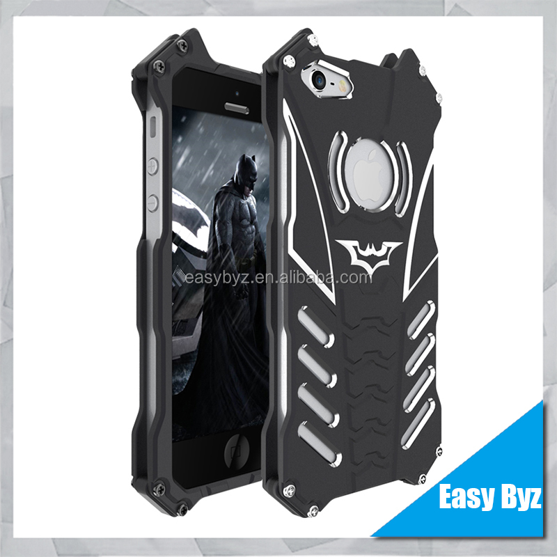 New Innovation Batman Design Metal Phone Case for iPhone 5 5s SE 5C Protective Shell Cover