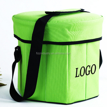 Foldable camping insulated cold cooler bag with seat