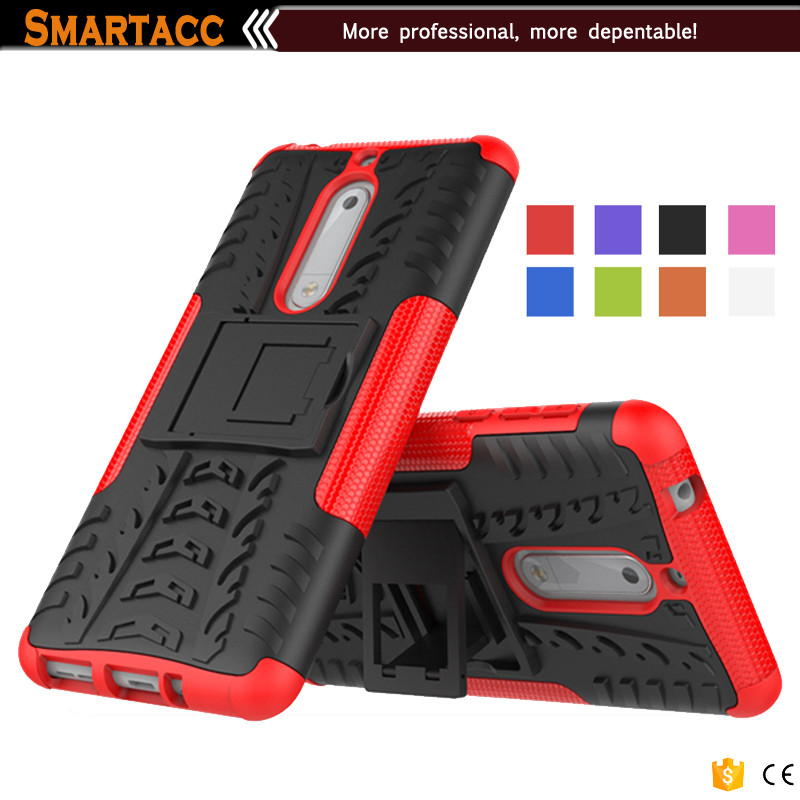 For Nokia 5 Case Cover, Silicone PC 2 In 1 Hybrid Cover Shockproof Case For Nokia 5