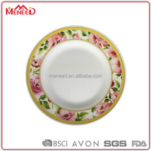 Food grade 100% melamine 10inch kitchen catering dinner plates