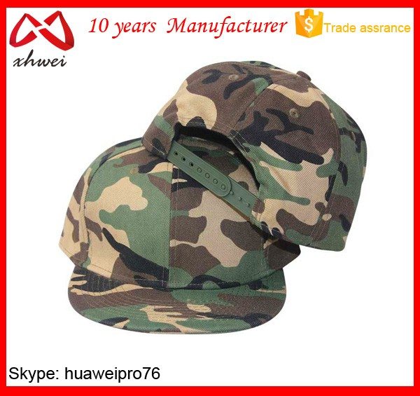 Manufacturer Camo Snapback Cap Custom Military Snapback Hats Caps Cheap