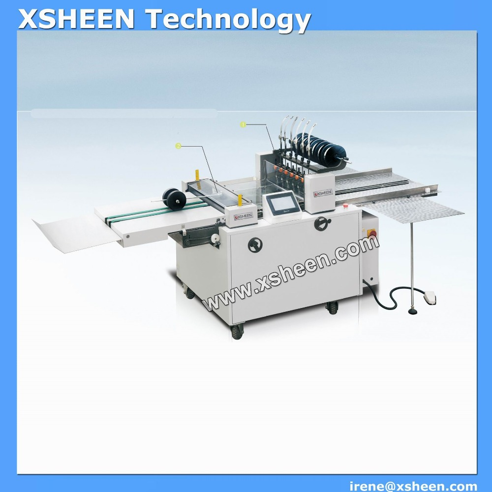Booklet maker machine, paper staple and folding machine
