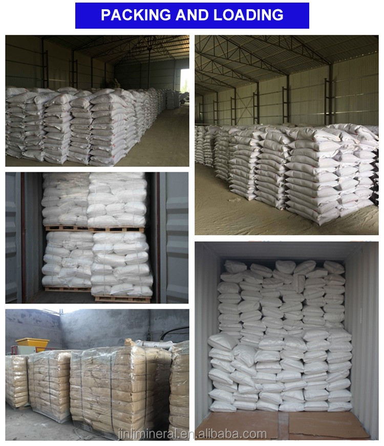 325 mesh 90% CaCO3 90% Whiteness Heavy Calcium carbonate powder for putty use