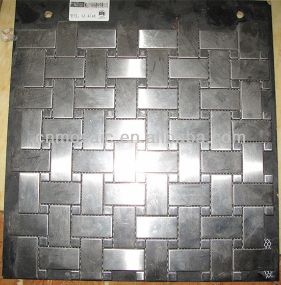 Superior Gray Aluminium Backsplash Tiles Lowes Mosaic Buy Backsplash